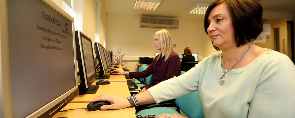 The IT suite at the Resource Centre
